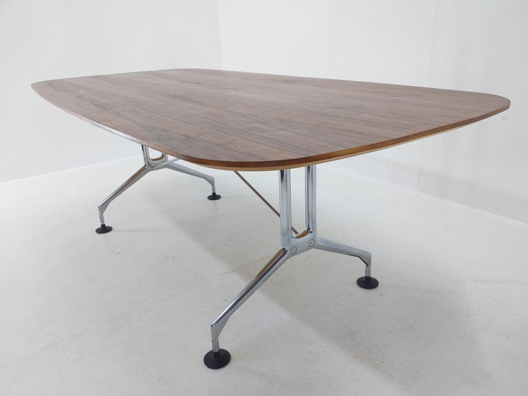 Late 20th Century Large Dining Table Vitra Designed by Charles and Ray Eames, 1980s For Sale