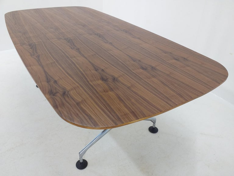 Chrome Large Dining Table Vitra Designed by Charles and Ray Eames, 1980s For Sale