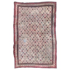 Large Distressed Antique Indian Agra Rug