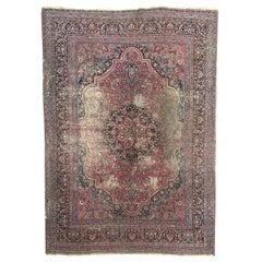 Large Distressed Antique Khorassan Rug