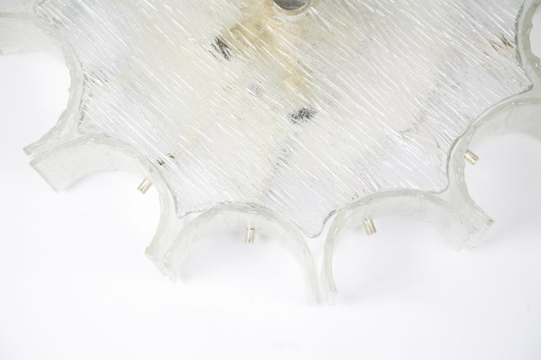 Large Dodegon Glass Flush Mount by Kaiser, Germany, 1960s For Sale 5