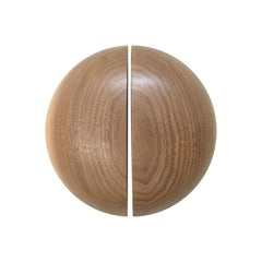 Large DOME Door Handles in Solid Walnut by Estudio Persona