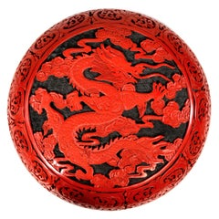 Large Domed Chinese Cinnabar Box