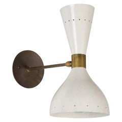 Large Double-Cone Italian Sconce in the Style of Stilnovo