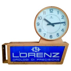 """Large Double-Sided Advertising Street Clock """"Lorenz"""" Watches, 1960s"""