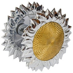 Large Double-Sided Sunflower Shape Door Handle by Chrystiane Charles