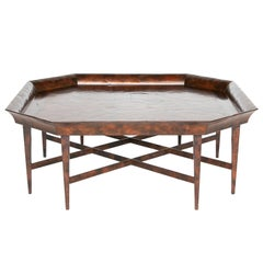 Large Double Stretcher Octagonal Coffee Table