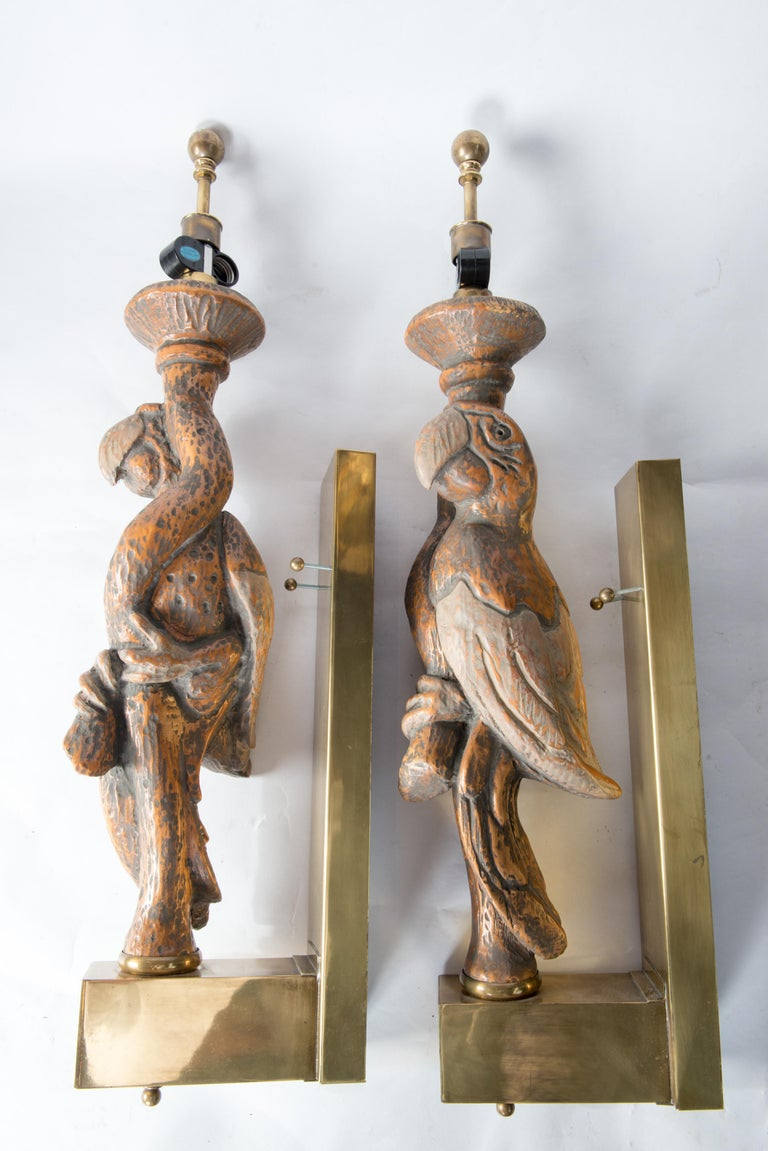 Large Dramatic Parrot Sconces For Sale 4