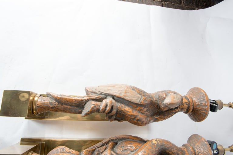 Late 20th Century Large Dramatic Parrot Sconces For Sale