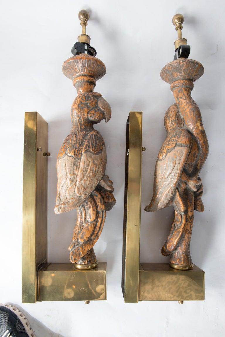 Large Dramatic Parrot Sconces For Sale 1