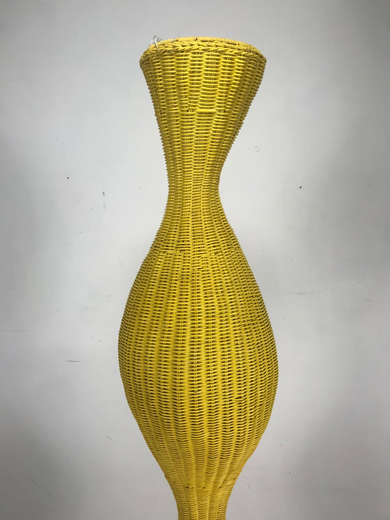 Mid-Century Modern Large, Dramatic Wicker Surrealism Totom Sculpture, Pop Art, Italy For Sale