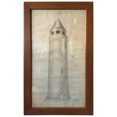 Large Drawing of Water Tower at Fort Ethan Allen