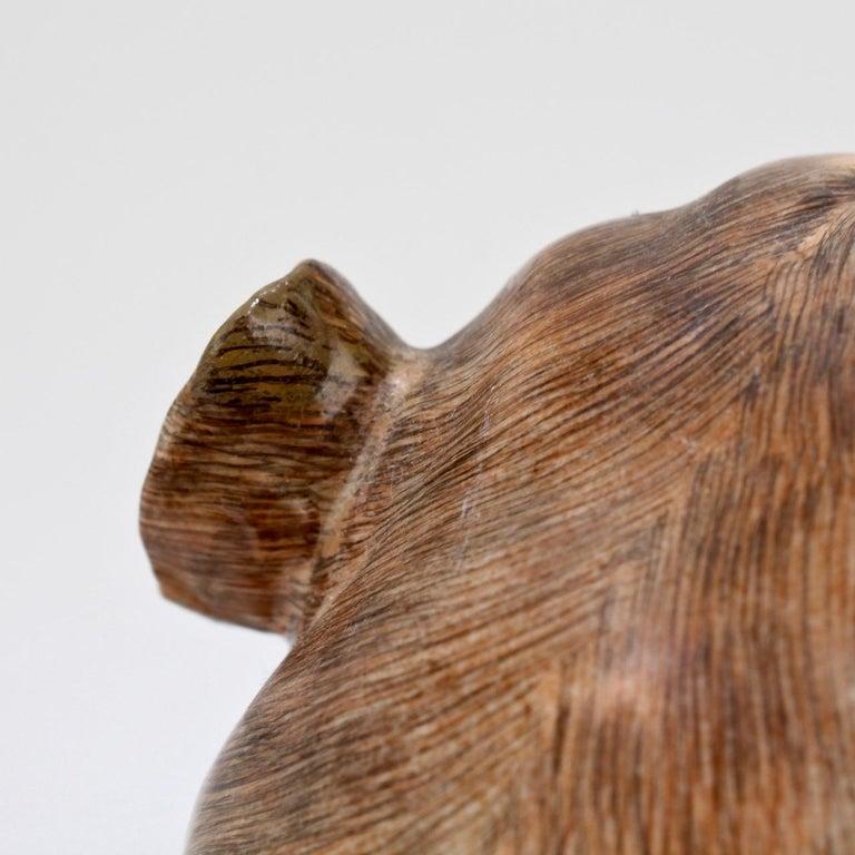 Large Dresden Porcelain Pug Dog Mother and Puppy Figurine or Model For Sale 7