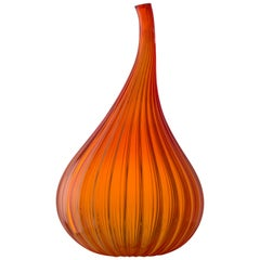 Large Drops Lucido Vase in Glass by Renzo Stellon