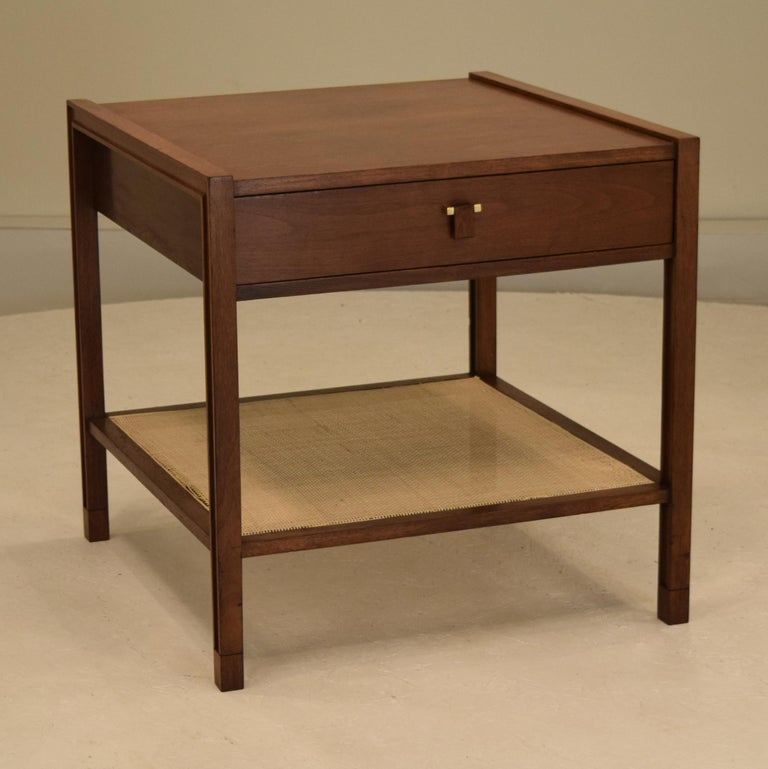 Produced by Dunbar circa 1965. Large occasional square cube end table measuring 27.5