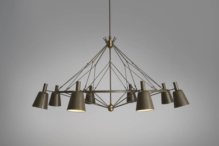 Mid-20th Century Large Dutch Chandelier, circa 1950 For Sale