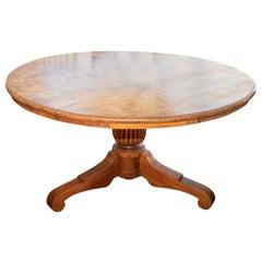 Large Dutch Colonial Teak Pedestal Dining Table, circa 1910