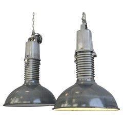Large Dutch Industrial Lights by Phillips, circa 1950s
