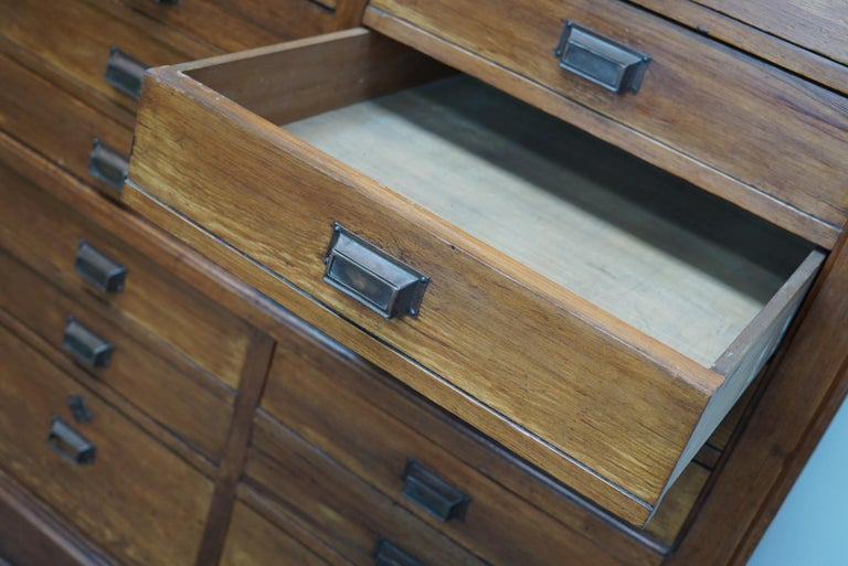 Large Dutch Pitch Pine Bank of Drawers, Early 20th Century For Sale 5