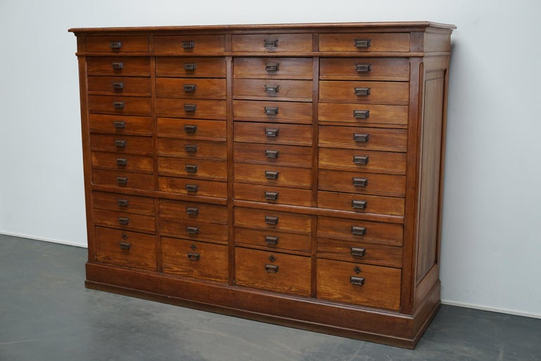 Large Dutch Pitch Pine Bank of Drawers, Early 20th Century For Sale 2