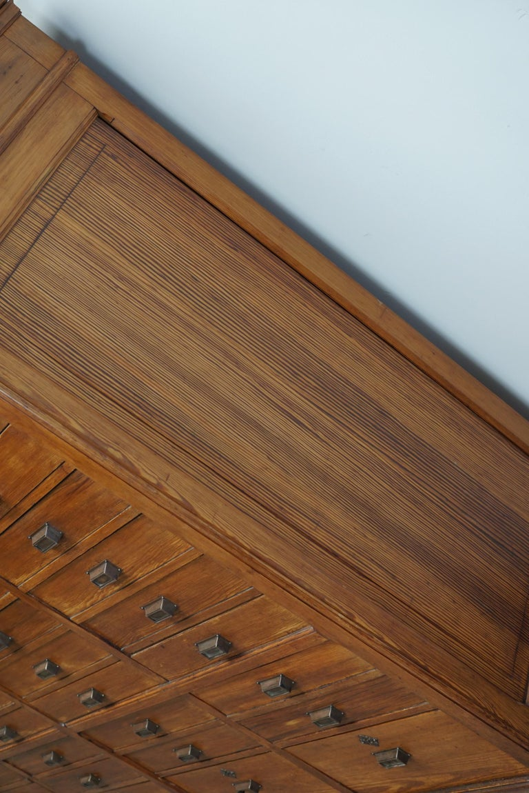 Large Dutch Pitch Pine Bank of Drawers, Early 20th Century For Sale 3