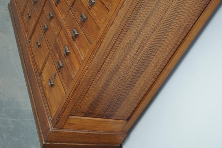 Large Dutch Pitch Pine Bank of Drawers, Early 20th Century For Sale 4