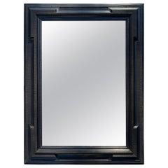 Large Dutch Style Black Framed Mirror