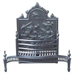 Large Dutch Victorian Fireplace Grate or Fireplace Basket, 19th Century