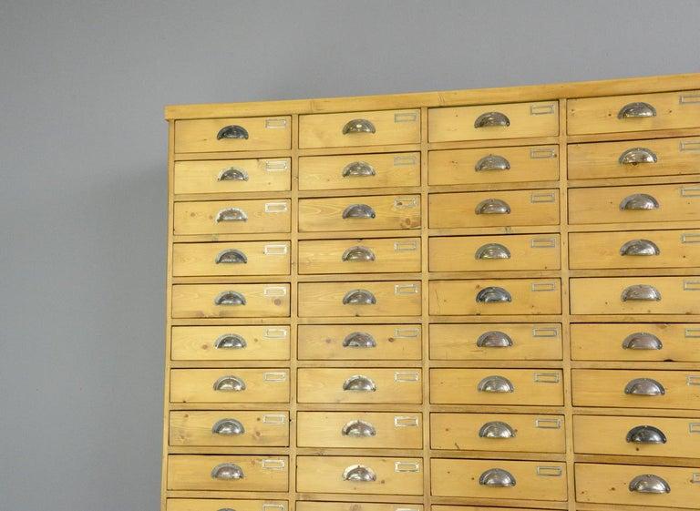Industrial Large Dutch Workshop Drawer Cabinet, circa 1950s For Sale