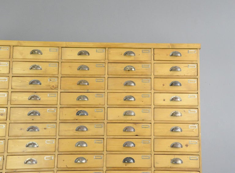 Large Dutch Workshop Drawer Cabinet, circa 1950s In Good Condition For Sale In Gloucester, GB