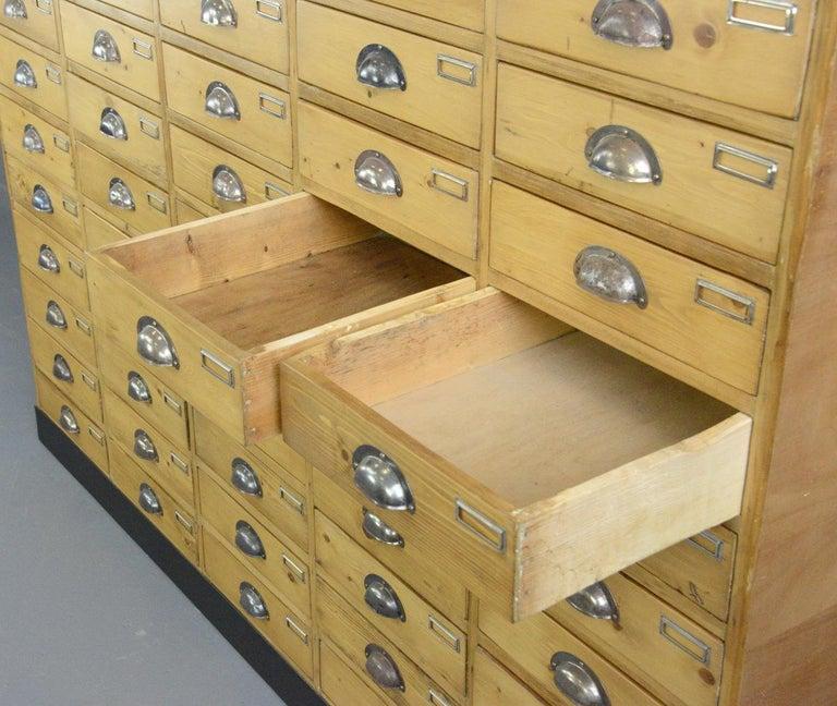Large Dutch Workshop Drawer Cabinet, circa 1950s For Sale 1