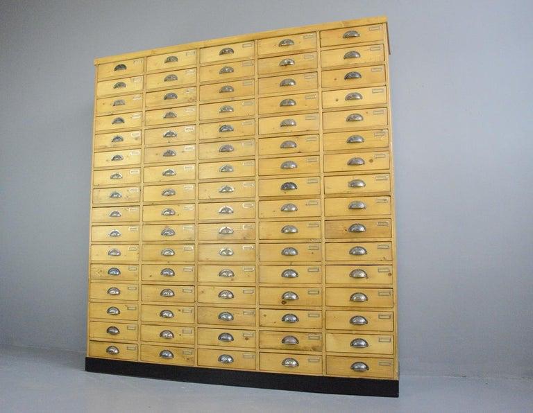 Large Dutch Workshop Drawer Cabinet, circa 1950s For Sale 2