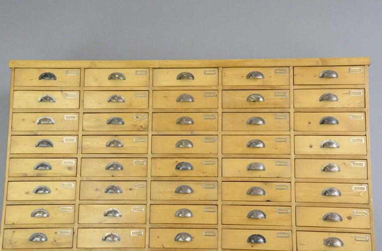 Large Dutch Workshop Drawer Cabinet, circa 1950s For Sale 3