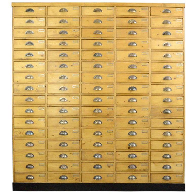 Large Dutch Workshop Drawer Cabinet, circa 1950s For Sale