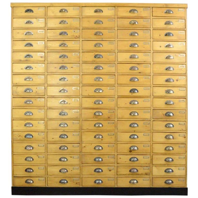Large Dutch Workshop Drawer Cabinet, circa 1950s