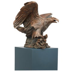 Large Eagle Bronze Sculpture by Mogens Bøggild