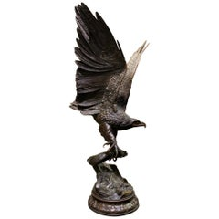 Large Eagle Bronze Sculpture