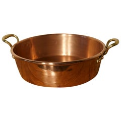 Large Early 19th Century Double Handled Copper Pan