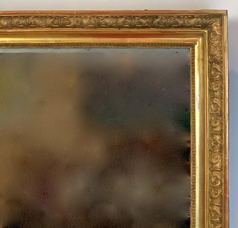 Large Early 19th Century French Carved Giltwood Mirror 2