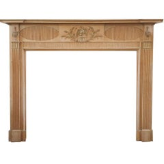 Large Early 19th Century Georgian Pine and Gesso Eagle Fireplace Mantel Surround