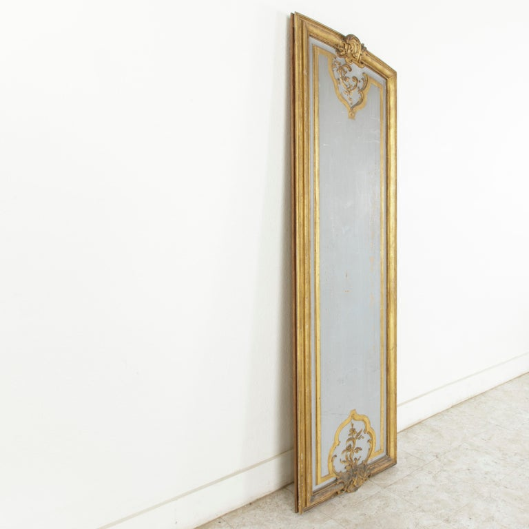 Louis XVI Large Early 19th Century Hand Carved, Gilded French Architectural Panel For Sale