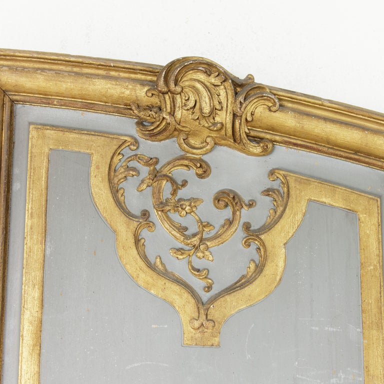 Wood Large Early 19th Century Hand Carved, Gilded French Architectural Panel For Sale