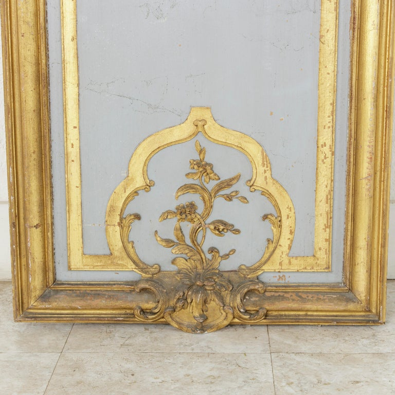 Large Early 19th Century Hand Carved, Gilded French Architectural Panel For Sale 1