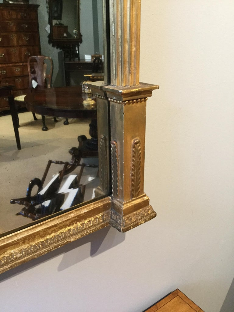 Large Early 19th Century Regency Period Giltwood Pier Mirror For Sale 2