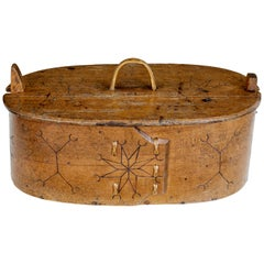Large Early 19th Century Swedish Tine Bentwood Box