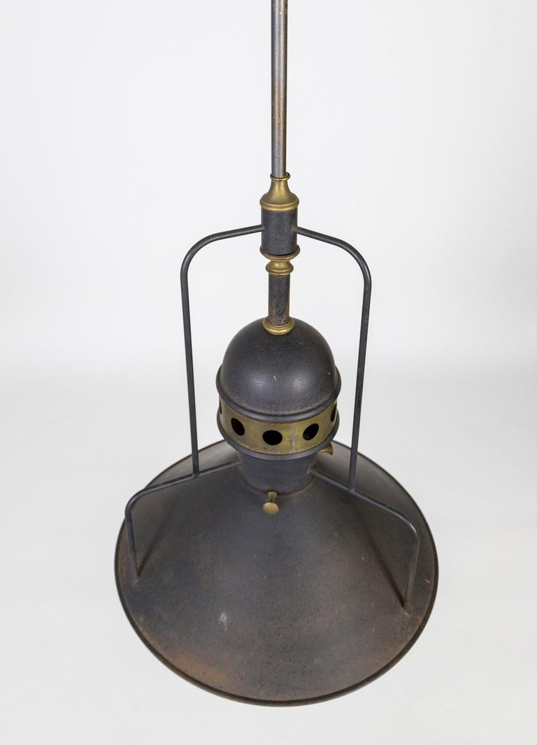 Large Early 20th Century Industrial Cog Pendant Light In Good Condition For Sale In San Francisco, CA