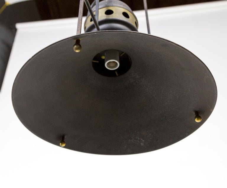 Large Early 20th Century Industrial Cog Pendant Light For Sale 2