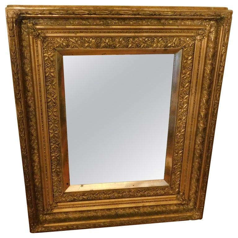 Large Early 20th Century Belgium Gold Framed Mirror For