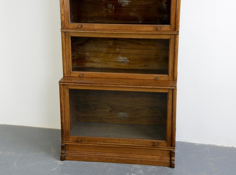 German Large Early 20th Century Bookcase by Soennecken For Sale