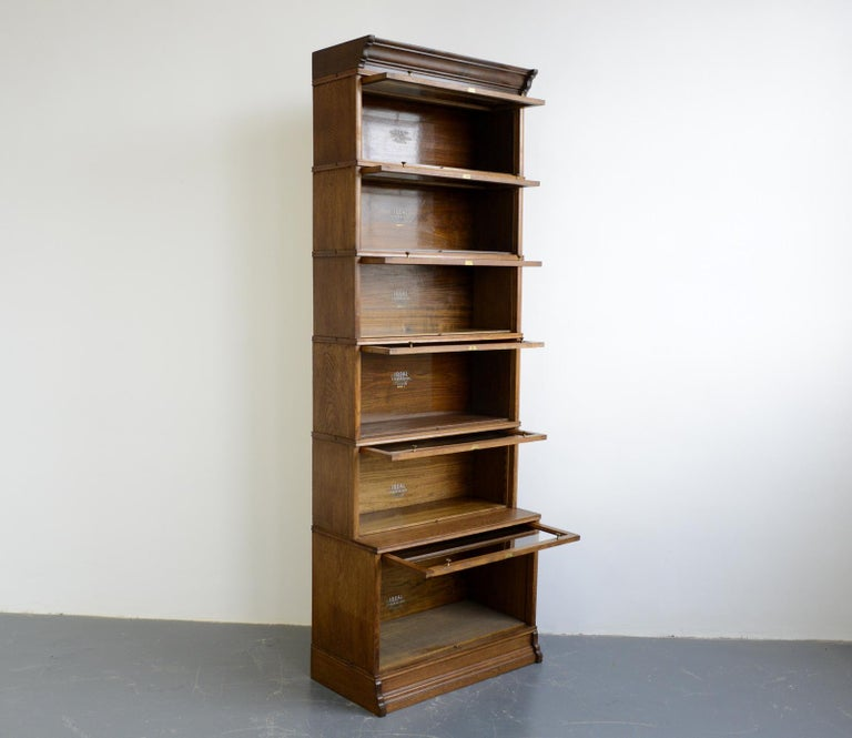 Large Early 20th Century Bookcase by Soennecken For Sale 3